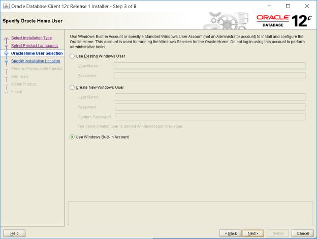 Installing Oracle Database 12c client on windows 10 64 bit machine